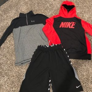 Lot of Nike/Under Armour